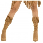 Indian Maiden Suede Adult Boot Covers - Small/Medium (5 1/2-7)