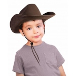 Child Cowboy Hat (Brown): Brown, One-Size, Everyday, Unisex, Child