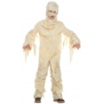 Classic Mummy Child Costume: White, Medium, Halloween, Male, Child