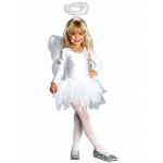 Angel Child Costume: White, Medium, Christmas, Female, Child