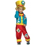 Clown Boy Toddler Costume: Red/Blue, Toddler, Everyday, Male, Toddler