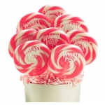 Pink and White Whirly Pops (8): White/Pink, Birthday