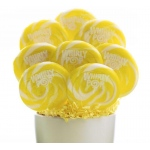 Yellow and White Whirly Pops (8): White/Yellow, Birthday