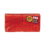 Amscan Apple Red Big Party Pack Beverage Napkins Red
