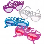 US Toy Tiara Sunglasses Various - color may vary