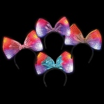 Rhode Island Novelty Flashing Bow Headband Various - color may vary