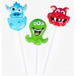 Rhode Island Novelty Monster Lollipops Various - color may vary