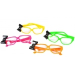 Rhode Island Novelty Neon Nerd Glasses with Bow Various - color may vary