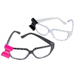 Rhode Island Novelty Polka Dot Nerd Glasses with Bow
