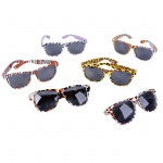 Rhode Island Novelty Safari Print Sunglasses Various - color may vary