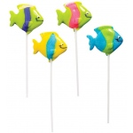 Rhode Island Novelty Tropical Fish Lollipops Various - color may vary
