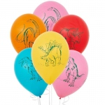 Dinosaurs Latex Balloons (6): Birthday