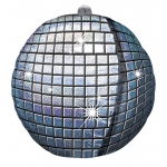Disco Ball Foil Balloon: Silver, Birthday