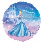Disney Cinderella Happy Birthday Foil Balloon: Multi-colored, Birthday