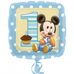 "Disney Mickey Mouse 1st Birthday 18"" Foil Balloon: Birthday"