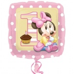 "Disney Minnie Mouse 1st Birthday 18"" Foil Balloon: Birthday"