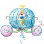 Disney Princess Carriage Shaped Jumbo Foil Balloon: Pink, Birthday