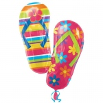 Flip Flops Shaped Jumbo Foil Balloon: Birthday