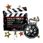 "Hollywood Movie Clapboard Jumbo 29"" Foil Balloon: Birthday"