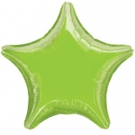 "Lime Green Star 19"" Foil Balloon: Lime, Birthday"