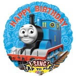 "Thomas the Tank Jumbo Singing 28"" Foil Balloon: Birthday"