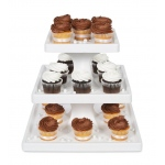 3 Tier Square Cupcake Stand: White, Birthday