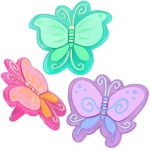 Butterfly Rings  Asst. (8): Birthday