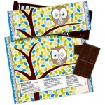 Birthday Express Blue Owl Large Candy Bar Wrappers Blue