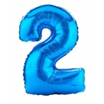 Birthday Express #2 Blue Shaped Foil Balloon Blue