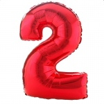 Birthday Express #2 Red Shaped Foil Balloon Red