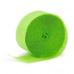Birthday Express Apple Green (Lime Green) Crepe Paper Lime