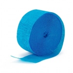 Birthday Express Aqua Blue (Turquoise) Crepe Paper Turquoise