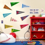 Baseball Time Giant Wall Decals: Multi-colored, Birthday