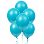 "Birthday Express Bermuda Blue (Turquoise) 11"" Matte Balloons (6 count)"