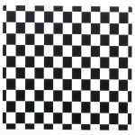 Black and White Check Activity Placemats - Black