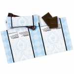 Birthday Express Elegant Prince Damask Small Candy Bar Wrappers Blue