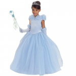 Blue Princess Cynthia Child Costume: Light Blue, Small, Everyday, Female, Child