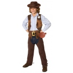 Cowboy Child Costume Kit: Brown, One Size, Everyday, Male, Child
