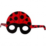 Birthday Express Ladybug Paper Masks Red/Black