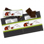 Birthday Express Ladybug Small Candy Bar Wrappers Red/Black