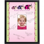 Birthday Express Ladybug: Oh So Sweet Framed Signature Matte Green/Pink