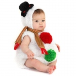 Baby Snowman Infant / Toddler Costume: White, 12/18 Months, Everyday, Female, Infant
