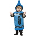 Blue Crayola Crayon Toddler Costume: Blue, 18-24 Months, Everyday, Unisex, Infant