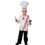 Chef Child Costume Kit: White/Red, Fits Sizes 4 to 8, Everyday, Male, Child