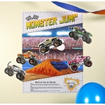 "Monster Jam 3D ""Stick the X"" Game: Multi-colored, Birthday"
