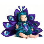 Baby Peacock Infant / Toddler Costume: Purple, 12/18 Months, Everyday, Female, Infant