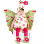 Butterfly Infant / Toddler Costume: Green/Pink, 6/12 Months, Everyday, Female, Toddler