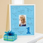 Birthday Express Everything One Boy Framed Signature Matte Blue