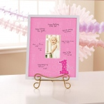 Birthday Express Everything One Girl Framed Signature Matte Pink