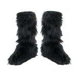 Disguise Fuzzy (Black) Child Boot Covers One-Size